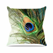 #2 Peacock Feather Outdoor Throw Pillow