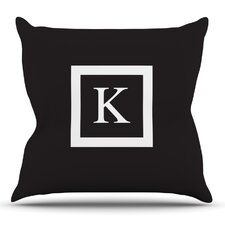 Monogram by KESS Original Outdoor Throw Pillow