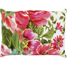 Walk Through The Garden Flowers Outdoor Lumbar Pillow