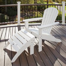 2017 Online Trex Outdoor Cape Cod Adirondack Chair and Footstool Set