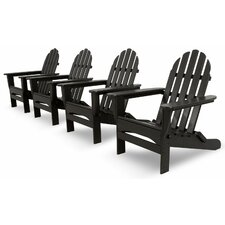 Bargain Ivy Terrace Classics 4 Piece Folding Adirondack Seating Group