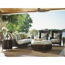 Island Estate Lanai Wing Chair and Ottoman with Cushions