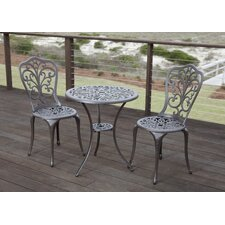 Faustina 3 Piece Bistro Set