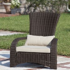 Deluxe Coconino Wicker Chair with Cushion