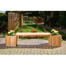 3 Piece Planter with Bench