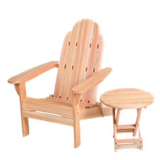 Western Red Cedar Folding Adirondack Seating Group
