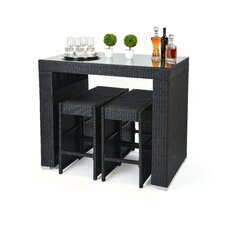 5 Piece Dining Table and Bar Stool Set
