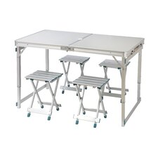 5 Piece Picnic Table and Stool Set