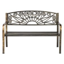 Bronze Coated Steel Garden Bench