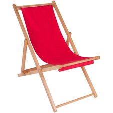 Adjustable Folding Wood Cabana Beach Chair