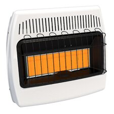 30,000 BTU Wall Mounted Natural Gas Manual Vent-Free Heater