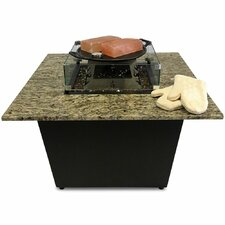 The Venetian Granite Gas Fire Pit Table with Universal Cooking Package