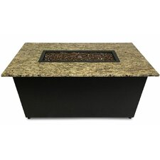 The Monaco Granite Gas Fire Pit Table