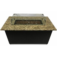 The Monaco Granite Gas Fire Pit Table with Wind Guard