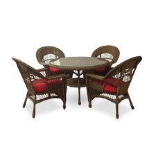 Best Choices Madison 5 Piece Dining Set with Cushions