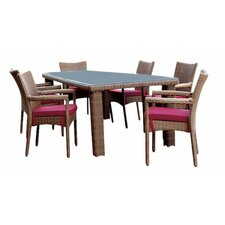 Santa Barbara 7 Piece Dining Set with Cushions