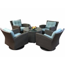 Sonoma 5 Piece Deep Swivel Seating Group with Cushions
