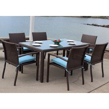 Sonoma Outdoor Wicker 7 Piece Dining Set with Cushions