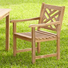 Summerton Teak Lattice-Back Arm Chair
