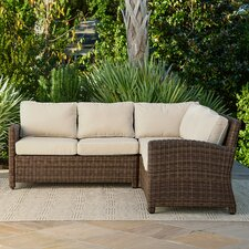 Best Choices Lawson Wicker Sectional with Cushions