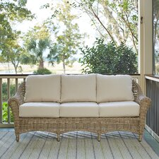 2017 Coupon Lynwood Wicker Sofa with Sunbrella? Cushions