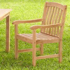 Summerton Teak Slat-Back Arm Chair