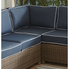 Lawson Wicker Sectional Wedge with Cushions