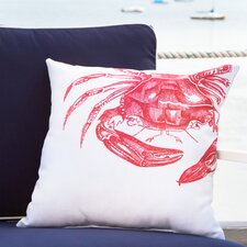 Red Crab Outdoor Pillow