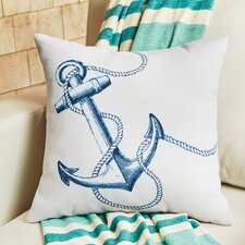 Blue Anchor Outdoor Pillow