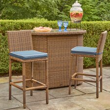 Lawson Bar Table 3-Piece Set with Cushions