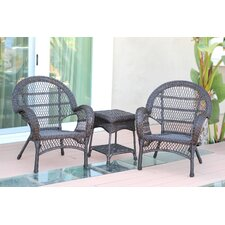Santa Maria Wicker 3 Piece Seating Group