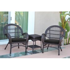 Santa Maria Wicker 3 Piece Seating Group with Cushions