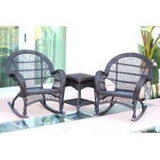 Santa Maria Wicker 3 Piece Rocker Seating Group