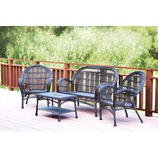 Santa Maria Wicker Conversation 4 Piece Seating Group