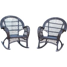 Wicker Rocker Chair (Set of 4)