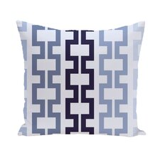 Cuff-Links Geometric Print Outdoor Pillow