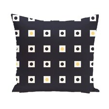 Hip To Be Square Geometric Print Outdoor Pillow