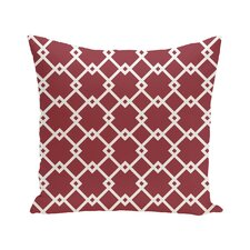 Link Lock Geometric Print Outdoor Pillow