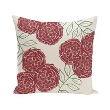 Mums the Word Floral Print Outdoor Pillow