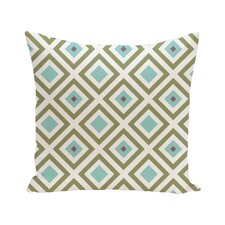 Diamond Mayhem Geometric Print Outdoor Pillow