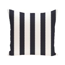 Stitch in Time Stripes Print Outdoor Pillow