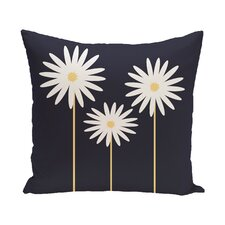 Daisy May Floral Print Outdoor Throw Pillow