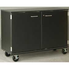 "Music 40"" Band/Orchestra Folio Storage with Casters and Doors"