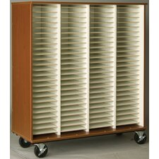"Music 55"" Choral Folio Storage with Casters"