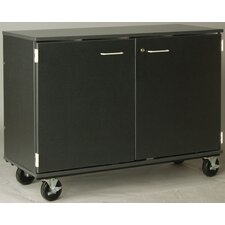 "Music 40"" Choral Folio Storage with Casters and Doors"