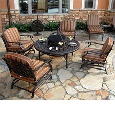 Today Sale Only Laneon 7 Piece Fire Pit Seating Group with Cushions