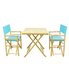 Bamboo 3 Piece Outdoor Dining Set