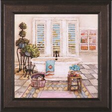 Sunny Day Bath I by Charlene Olson Framed Painting Print