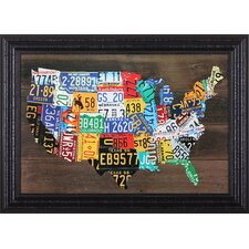 """USA Map II"" by Aaron Foste Framed Graphic Art"