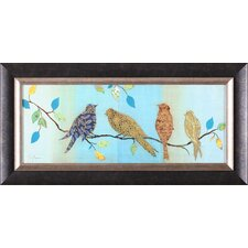 'Bird Chat I' by Tava Studios Framed Graphic Art